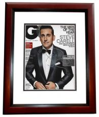 Steve Carell Signed - Autographed GQ Cover 8x10 Photo MAHOGANY CUSTOM FRAME