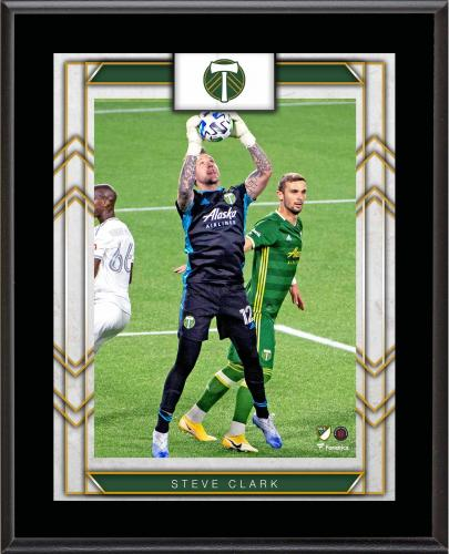 """Steve Clark Portland Timbers 10.5"""" x 13"""" Sublimated Player Plaque"""