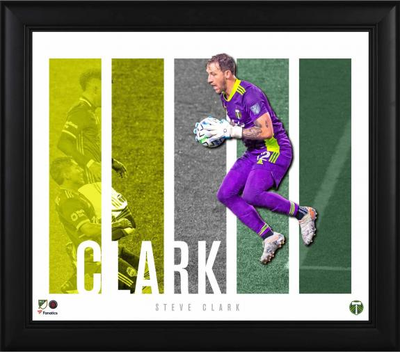 """Steve Clark Portland Timbers Framed 15"""" x 17"""" Player Panel Collage"""
