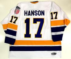Steve Hanson Charlestown Chiefs White Jersey Slap Shot! Steve Carlson #17