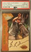 Steve Irwin 2002 Crocodile Hunter Dart Flipcards Signed AUTO PSA GEM MINT 10