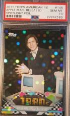 Steve Jobs 2011 TOPPS American Pie Apple Mac Spotlight Foil PSA GEM MINT 10