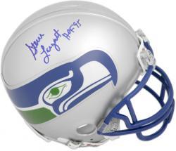 Steve Largent Hall Of Fame Autographed Mini Helmet