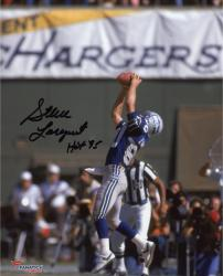 """Steve Largent Seattle Seahawks Autographed 8"""" x 10"""" Catch Photograph with HOF 95 Inscription"""