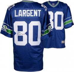 Steve Largent Seattle Seahawks Autographed Pro-Line Authentic Jersey with HOF 95 Inscription
