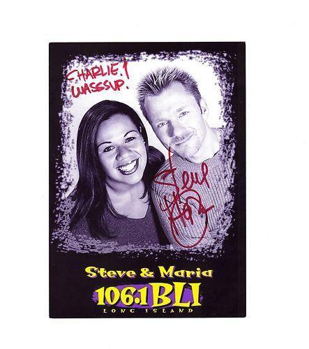 Steve & Maria-signed post card