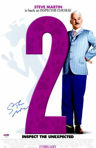 """Steve Martin Autographed 11"""" x 17"""" Pink Panther 2 Movie Poster - PSA/DNACOA"""