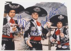 Steve Martin Chevy Chase Martin Short Three Amigos Signed 11x14 Photo Psa Coa