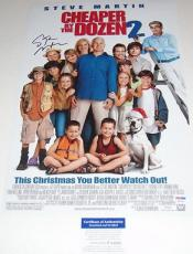 Steve Martin Signed Cheaper By The Dozen Movie Poster 12x18 Psa/dna Coa P64091