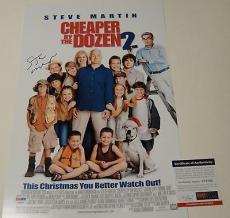 Steve Martin Signed Cheaper By The Dozen Movie Poster 12x18 Psa/dna Coa U78505