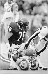 "Steve McMichael Chicago Bears Autographed 12"" x 18"" Eric Dickerson Tackle Photograph"