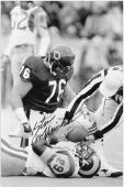 Steve McMichael Chicago Bears Autographed 12'' x 18'' Eric Dickerson Tackle Photograph - Mounted Memories