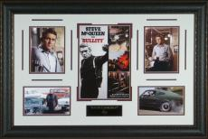 Steve McQueen Bullitt Laser Engraved Autograph Display
