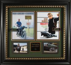 Steve McQueen Laser Engraved Autograph Display