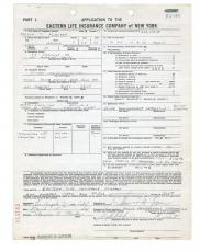 Steve McQueen Signed $200,000 Life Insurance Document w/ Full Name Signature PSA