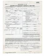 Steve McQueen Signed $200,000 Life Insurance Document w/ Full Name Signature PSA