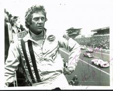 "Steve McQueen Signed 8X10 ""Le Mans"" Racing Photo PSA/DNA #E30277"