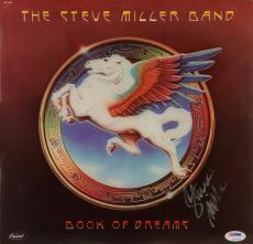 "Steve Miller Autographed Steve Miller Band ""Book Of Dreams"" Album Cover - PSA/DNA COA"