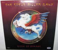 Steve Miller Signed 'book Of Dreams' Album Cover Autographs Psa/dna Coa
