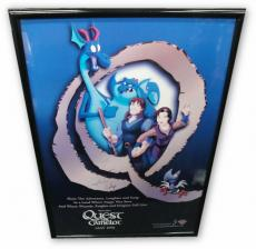 Steve Perry David Foster Seager tri Signed Poster Framed 29x42 Quest For Camelot