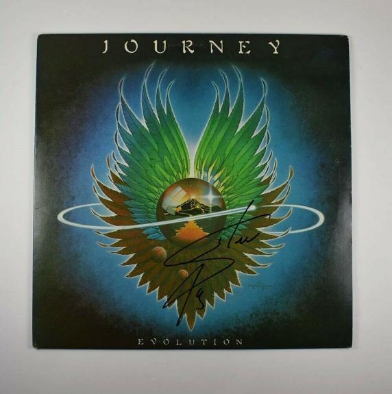 Steve Perry Journey Evolution Autographed Signed Album LP Record PSA/DNA COA