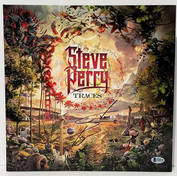 """STEVE PERRY (Journey) Signed Autographed """"TRACES"""" Album LP Vinyl Beckett BAS"""