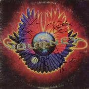 Steve Perry, Neal Schon, Ross Valory & Gregg Rolie Autographed Journey Infinity Album Cover - PSA/DNA LOA