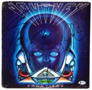 Steve Perry, Ross Valory, Neal Schon & Jonathan Cain Autographed Journey Frontiers Album Cover - Beckett COA