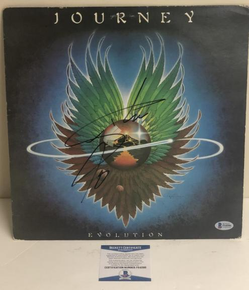 Steve Perry Signed Journey Evolution Album Vinyl Lp Authentic Autograph Beckett