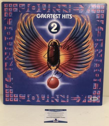 Steve Perry Signed Journey Greatest Hits 2 Album Vinyl Lp Autograph Beckett Coa