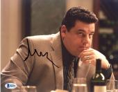 "Steve Schirripa Autographed 8"" x 10"" The Sopranos Sitting in Restaurant Looking Up Photograph - Beckett COA"