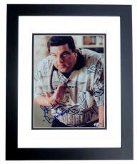 Steve Schirripa Autographed SOPRANOS 8x10 Photo BLACK CUSTOM FRAME