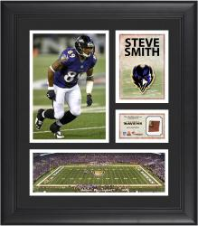 Steve Smith Baltimore Ravens Framed 15'' x 17'' Collage with Game-Used Football