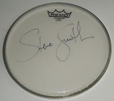 "Steve Smith signed Journey 10"" Remo drumhead W/Coa Drummer"