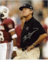 "Steve Spurrier South Carolina Gamecocks Autographed 8"" x 10"" Looking at Sky Photograph - Mounted Memories"