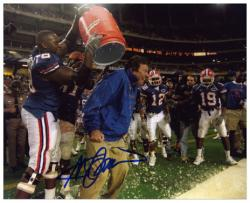 "Steve Spurrier Florida Gators Autographed 8"" x 10"" Gatorade Dump Photograph"