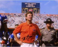 "Steve Spurrier Florida Gators Autographed 8"" x 10"" Coach Photograph"