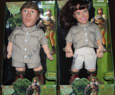 Steve & Terri Irwin The Crocodile Hunter Signed Autographed Doll JSA AUTHENTIC