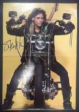 Steve Vai Music Legend Signed Autographed 11x15 Fold Out Mini Poster W/coa Rare