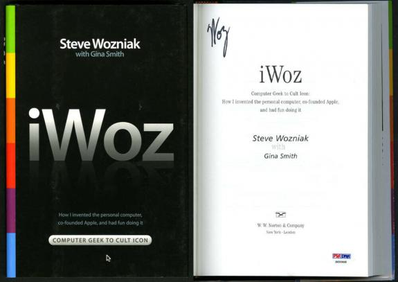 Steve Woz Wozniak SIGNED iWoz 1st Apple Computers Co Founder PSA/DNA AUTOGRAPHED