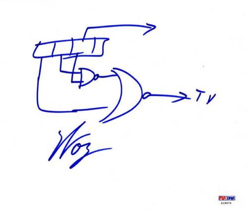 Steve Wozniak Autographed Apple Founder Sketch UACC RD COA AFTAL PSA