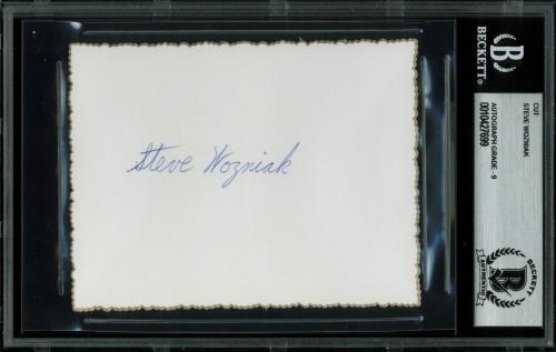 Steve Wozniak Signed 3.35x4.5 Cut Signature Auto Graded Mint 9! BAS Slabbed