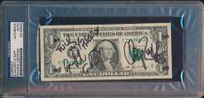 Steven Adler Chip Znuff Signed $1 Bill Psa/dna Auto Gnr Guns N Roses #83155524