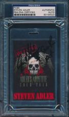 Steven Adler Gnr Adler's Appetite Signed Tour Pass Psa/dna #83155523
