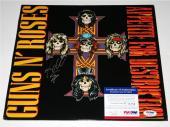 """Steven Adler Guns N Roses """"APPETITE FOR DESTRUCTION"""" Signed LP ALBUM PSA/DNA"""
