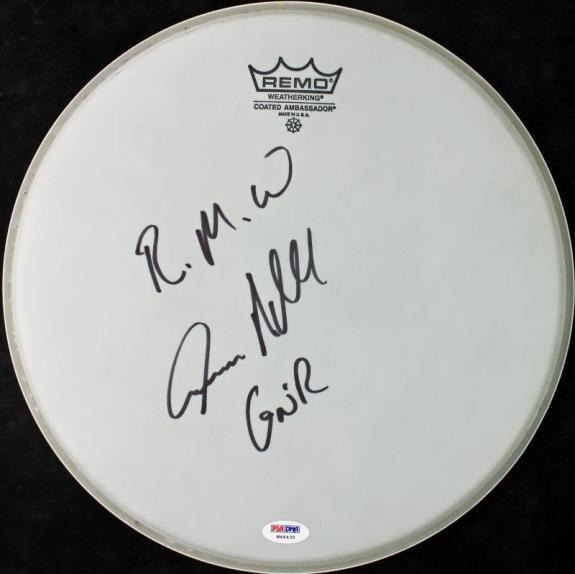 Steven Adler Guns N' Roses Signed 13 Inch Drumhead PSA/DNA #W46435