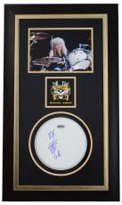 STEVEN ADLER (Guns N Roses) signed/custom framed drumhead display-JSA N15730