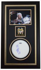 STEVEN ADLER (Guns N Roses) signed/custom framed drumhead display-JSA N15730