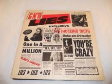 Steven Adler Guns & Roses GNR Lies Signed Autographed Album LP PSA Guaranteed