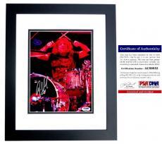 Steven Adler Signed - Autographed GUNS N ROSES DRUMMER 8x10 Concert inch Photo with PSA/DNA Certificate of Authenticity (COA) BLACK CUSTOM FRAME